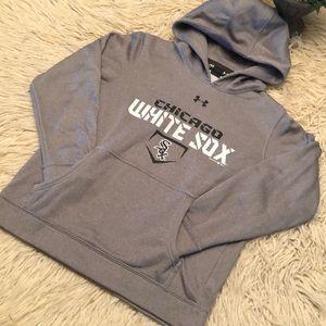Auth-Chic White Sox Sweatshirt-Youth M-Gray